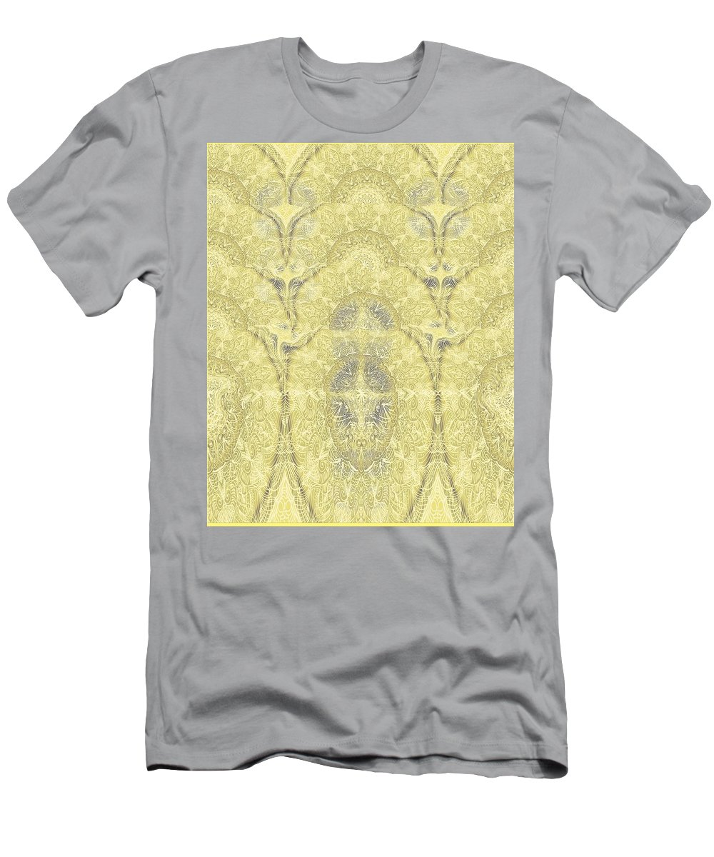 Floral Men's T-Shirt (Athletic Fit) featuring the digital art Wind by Sandrine Kespi