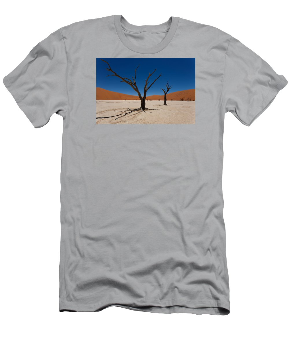 Kalahari Desert Men's T-Shirt (Athletic Fit) featuring the photograph Dead Vlei by Davide Guidolin