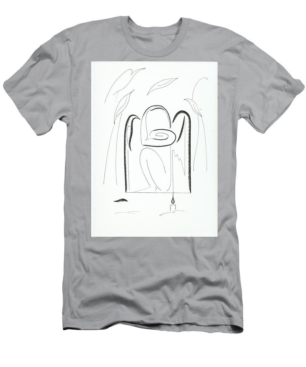 Graphics Men's T-Shirt (Athletic Fit) featuring the drawing Graphics by Ira Mizkevish