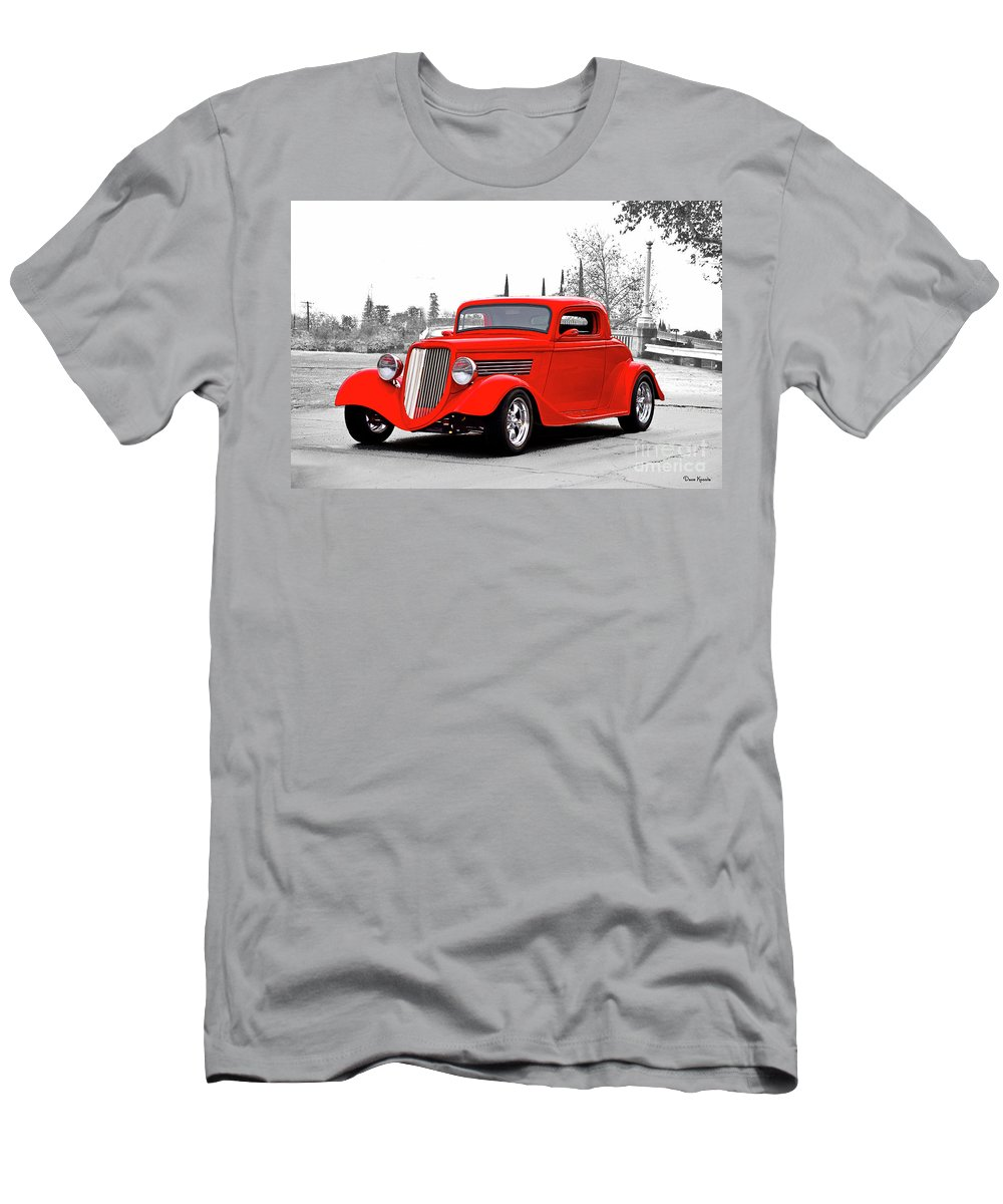 Auto Men's T-Shirt (Athletic Fit) featuring the photograph 1933 Ford 'three Window' Coupe I by Dave Koontz