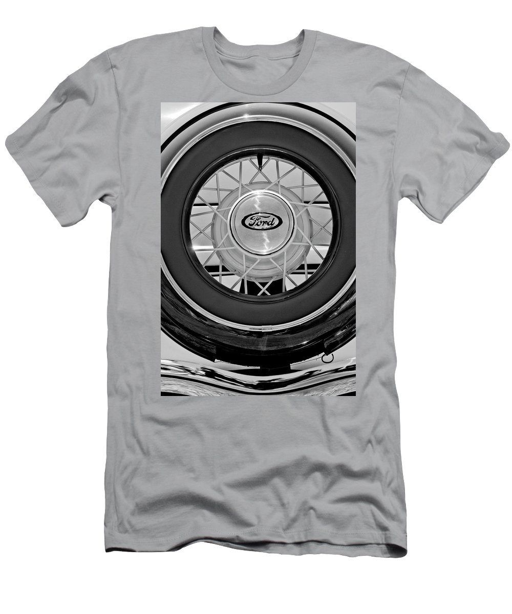 1934 Ford Roadster Men's T-Shirt (Athletic Fit) featuring the photograph 1934 Ford Roadster Spare Tire 2 by Jill Reger