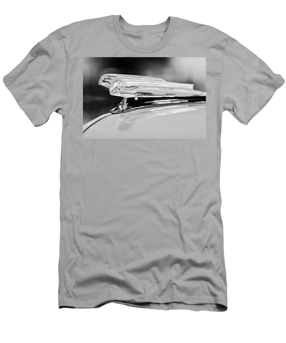 1942 Chevrolet Fleetline Men's T-Shirt (Athletic Fit) featuring the photograph 1942 Chevrolet Fleetline Hood Ornament 2 by Jill Reger