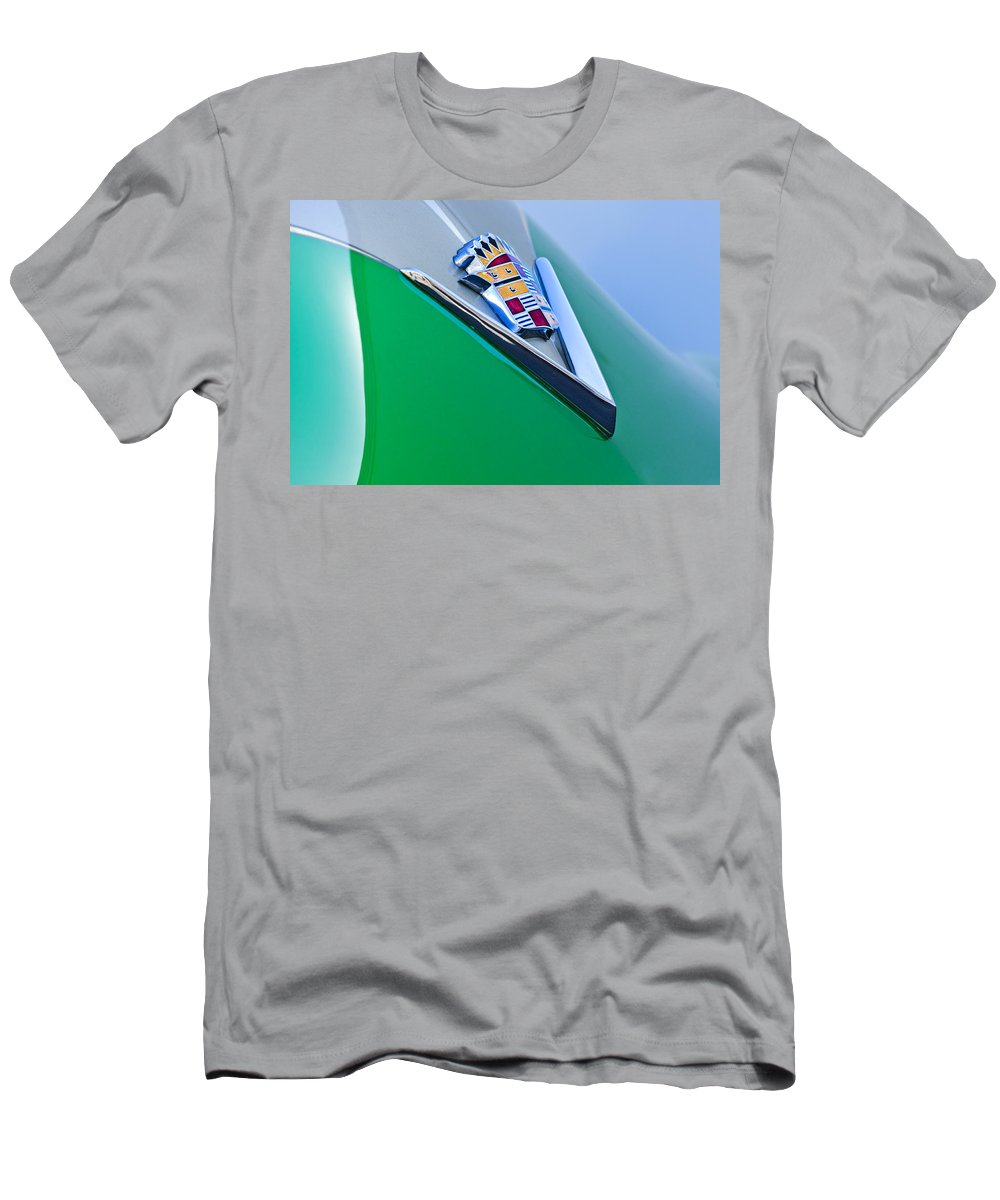 1948 Cadillac Men's T-Shirt (Athletic Fit) featuring the photograph 1948 Cadillac Emblem by Jill Reger