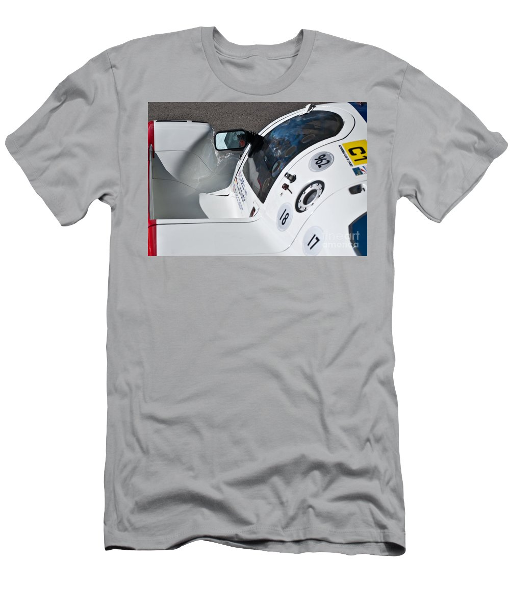 Porsche Men's T-Shirt (Athletic Fit) featuring the photograph 1987 Porsche 962c by Stuart Row
