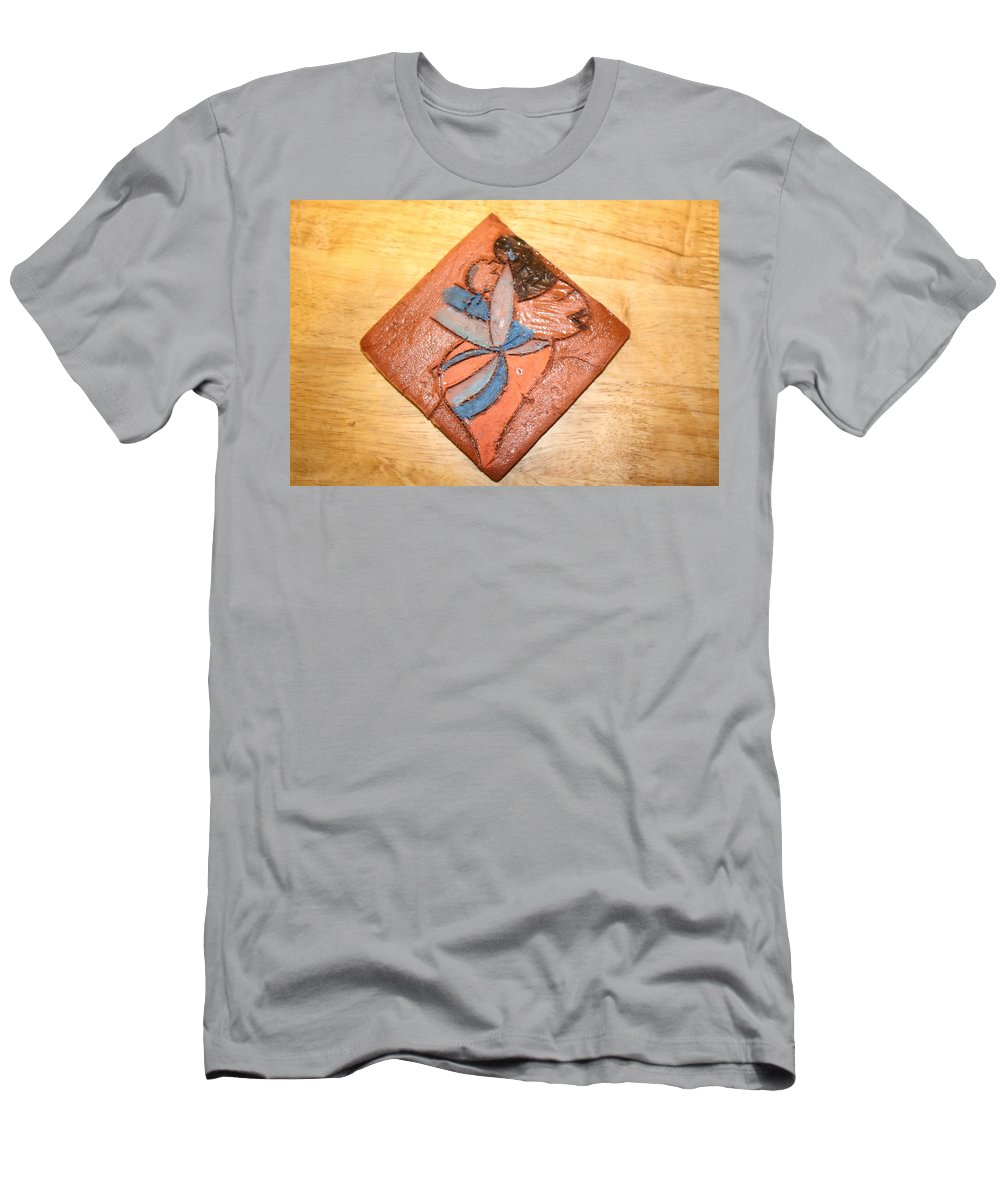 Jesus Men's T-Shirt (Athletic Fit) featuring the ceramic art Akaweese - Tile by Gloria Ssali