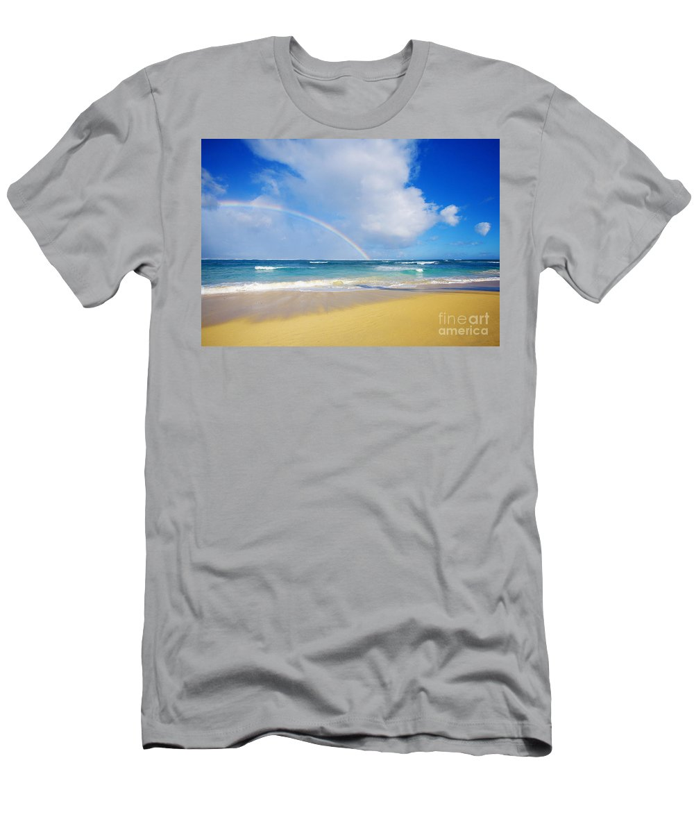 Afternoon Men's T-Shirt (Athletic Fit) featuring the photograph Baldwin Beach by Ron Dahlquist - Printscapes