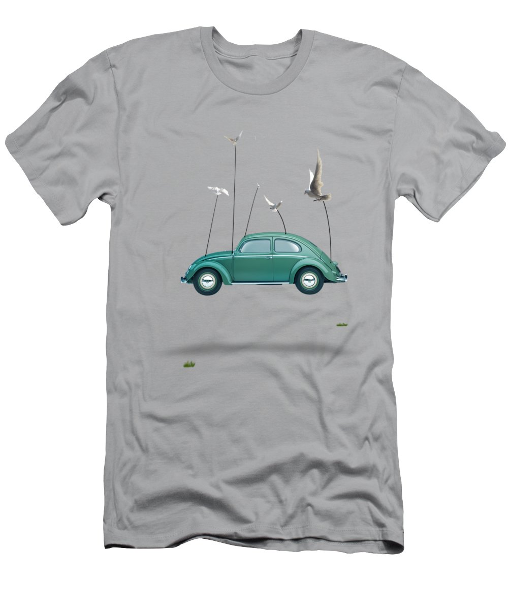 Cool T-Shirt featuring the painting Cars by Mark Ashkenazi
