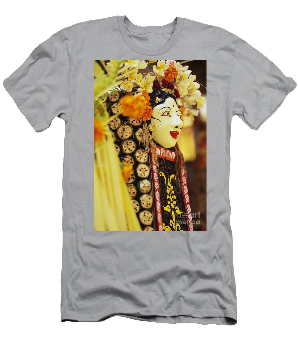 Asian Cultural Art Men's T-Shirt (Athletic Fit) featuring the photograph Ceremonial Mask by Dana Edmunds - Printscapes