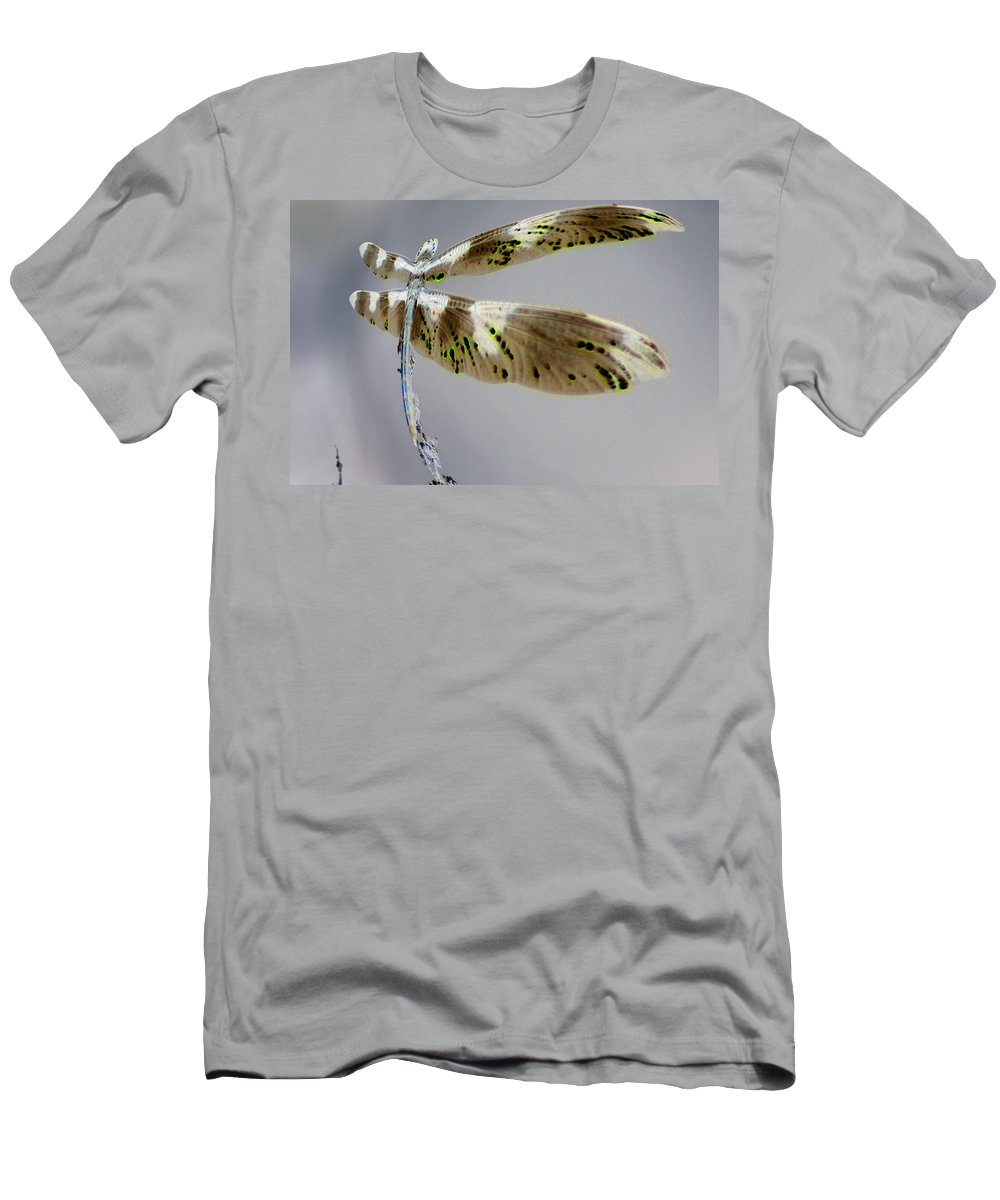 Abstract Men's T-Shirt (Athletic Fit) featuring the photograph Dragonfly by Jeff Swan
