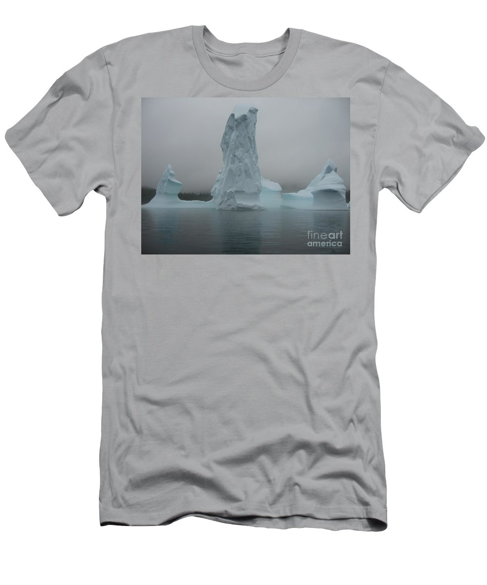 Icebergs Newfoundland Men's T-Shirt (Athletic Fit) featuring the photograph Icebergs by Seon-Jeong Kim