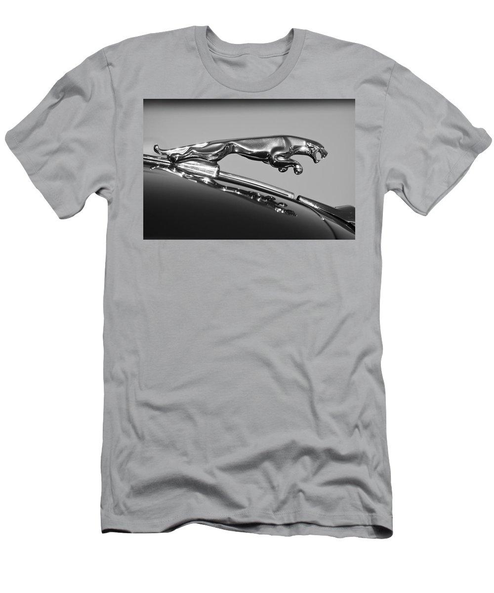 Jaguar Men's T-Shirt (Athletic Fit) featuring the photograph Jaguar Hood Ornament 2 by Jill Reger