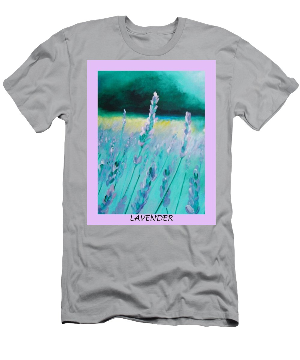Lavender Men's T-Shirt (Athletic Fit) featuring the painting Lavender by Eric Schiabor