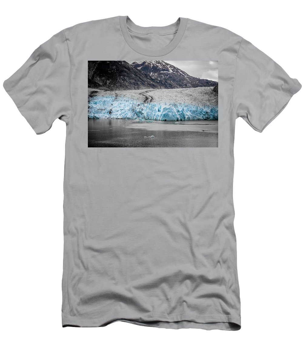 Glacier Men's T-Shirt (Athletic Fit) featuring the photograph Magnificent Sawyer Glacier At The Tip Of Tracy Arm Fjord by Alex Grichenko