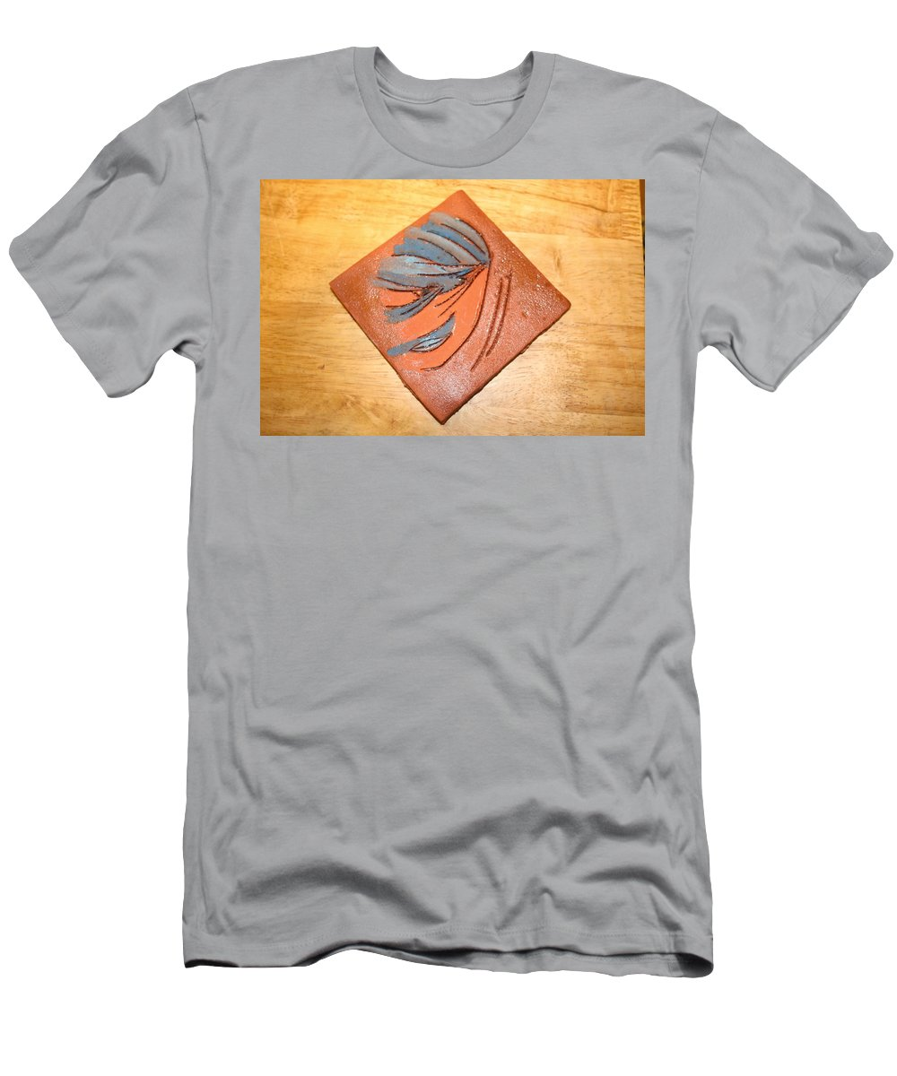 Jesus Men's T-Shirt (Athletic Fit) featuring the ceramic art Mask - Tile by Gloria Ssali