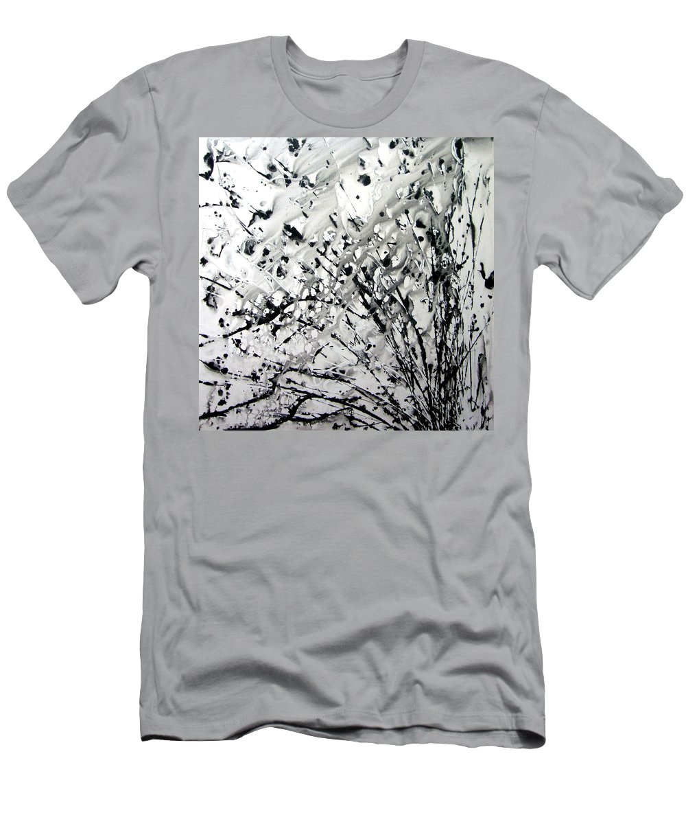 Abstraction Men's T-Shirt (Athletic Fit) featuring the digital art Painting Noir by Ethel Mann