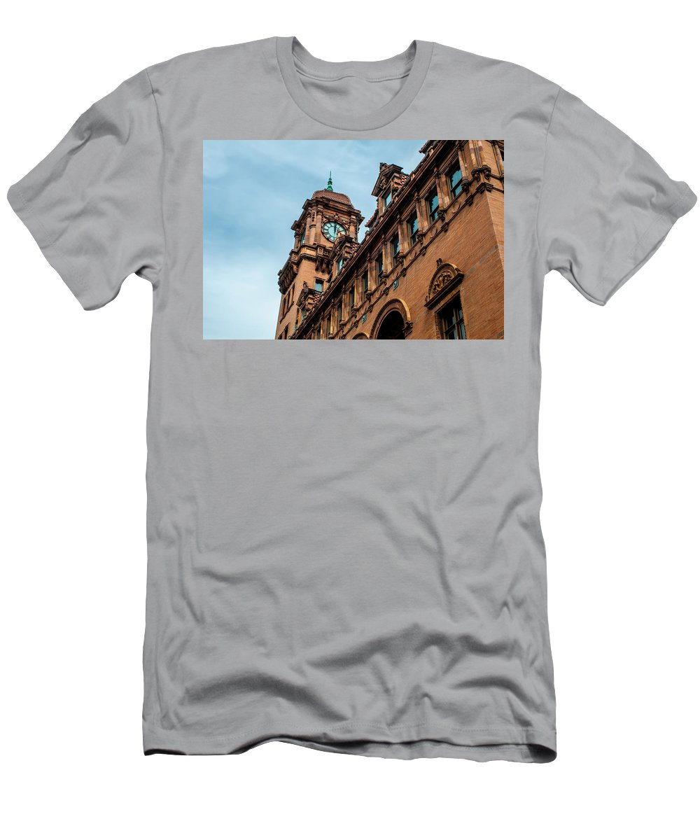 Crowded Men's T-Shirt (Athletic Fit) featuring the photograph Richmond Virginia Architecture by Alex Grichenko
