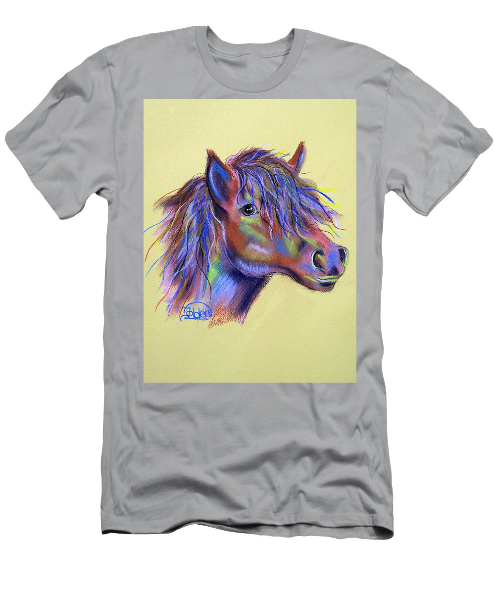 Horse Men's T-Shirt (Athletic Fit) featuring the pastel Spirit Horse by Jo Hoden