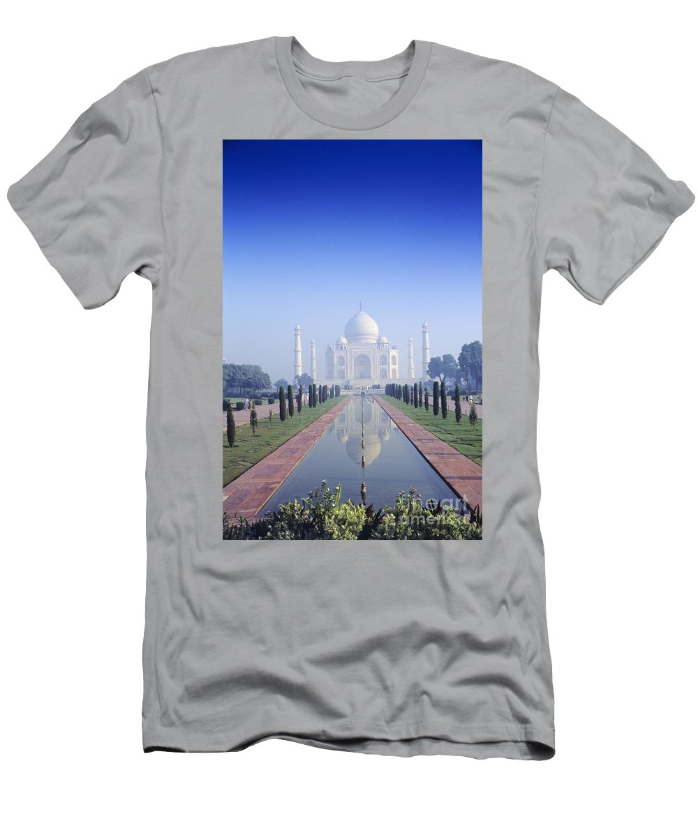 Agra Men's T-Shirt (Athletic Fit) featuring the photograph Taj Mahal View by Gloria & Richard Maschmeyer - Printscapes