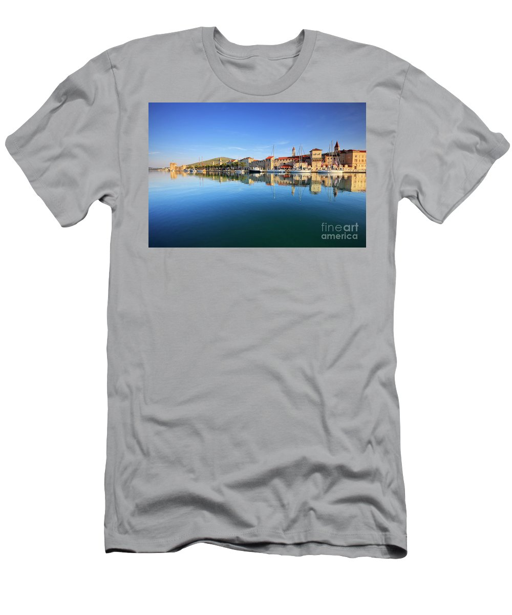 Mediterranean Men's T-Shirt (Athletic Fit) featuring the photograph Trogir by Nino Marcutti
