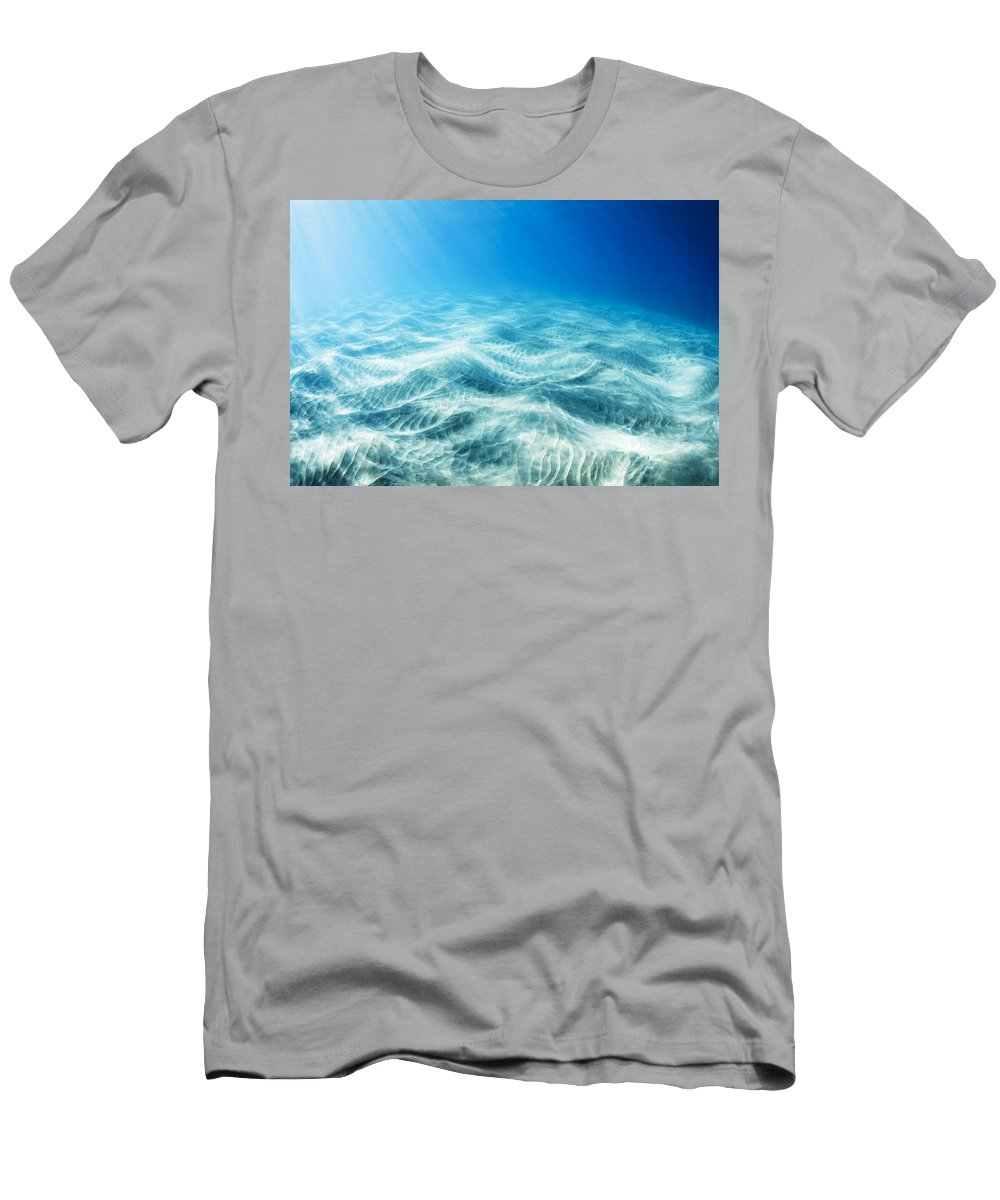 Art Men's T-Shirt (Athletic Fit) featuring the photograph Underwater Light by MakenaStockMedia