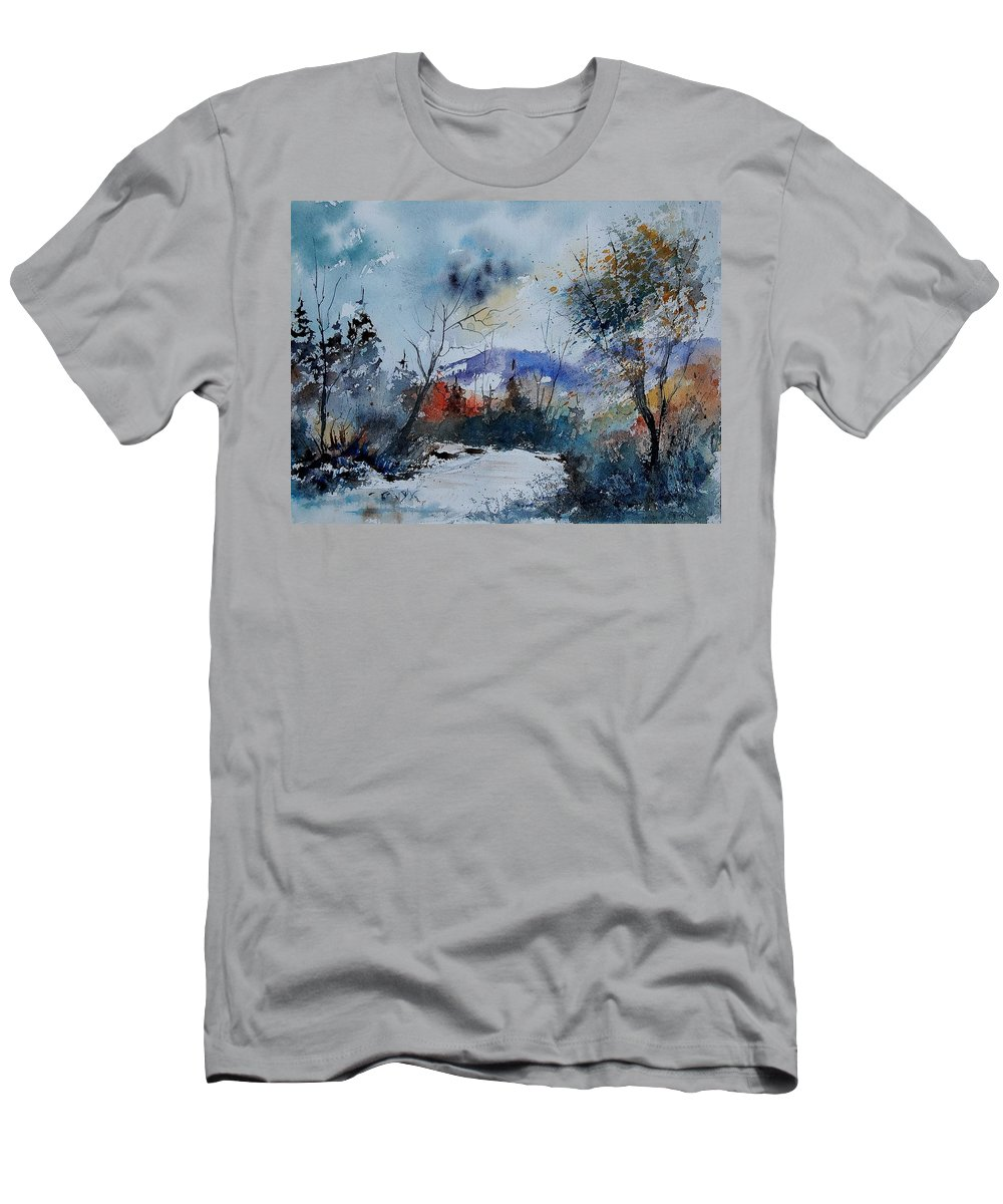 Winter Men's T-Shirt (Athletic Fit) featuring the painting Watercolor 802120 by Pol Ledent