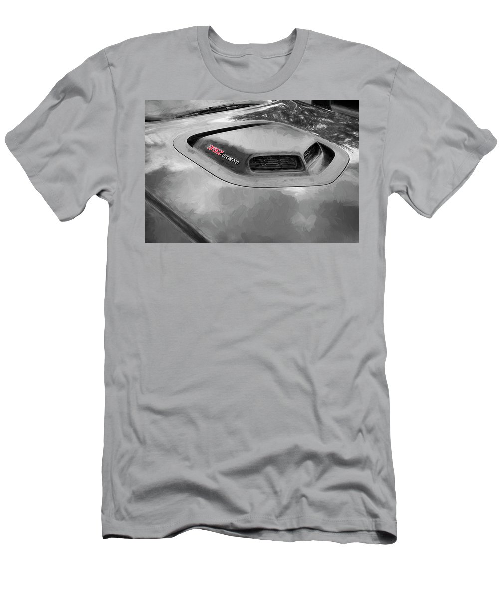 Dodge Men's T-Shirt (Athletic Fit) featuring the photograph 2018 Dodge Challenger 392 Hemi Scat Pack Shaker Rt 005 by Rich Franco