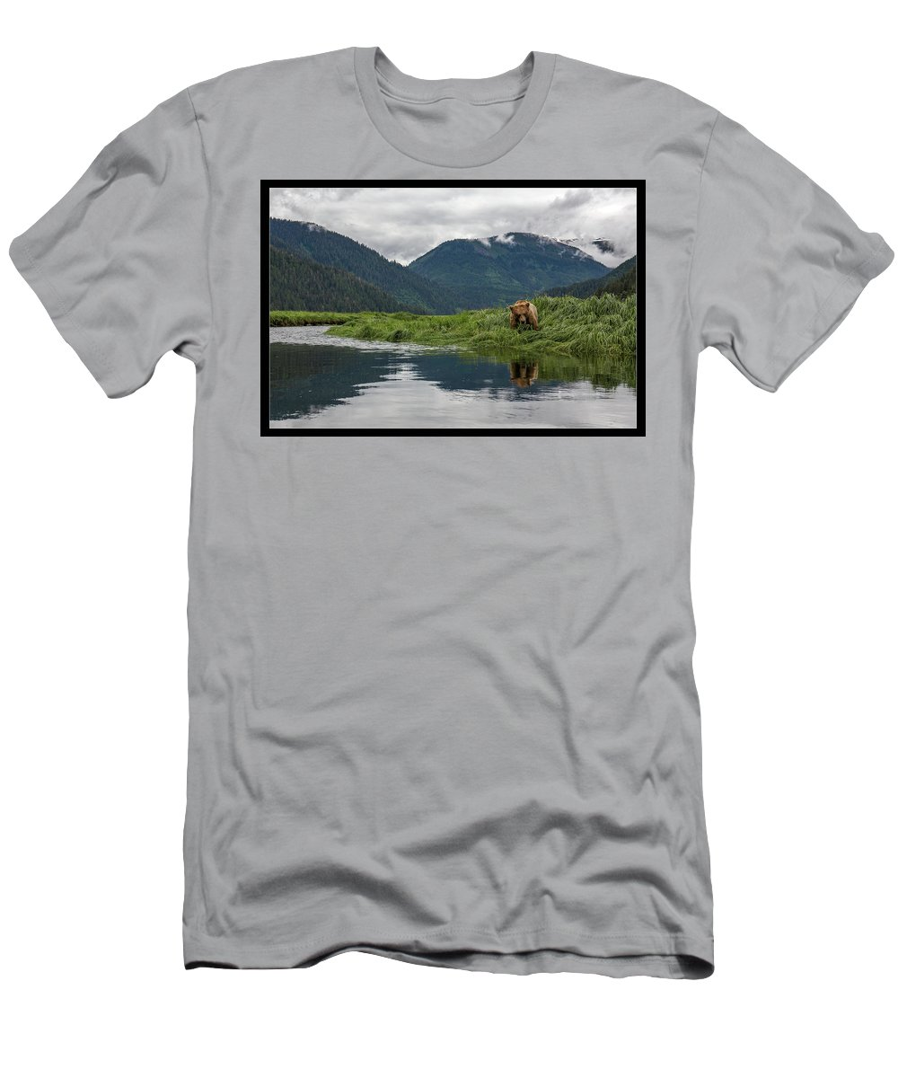 Grizzly Men's T-Shirt (Athletic Fit) featuring the photograph 29 by J and j Imagery