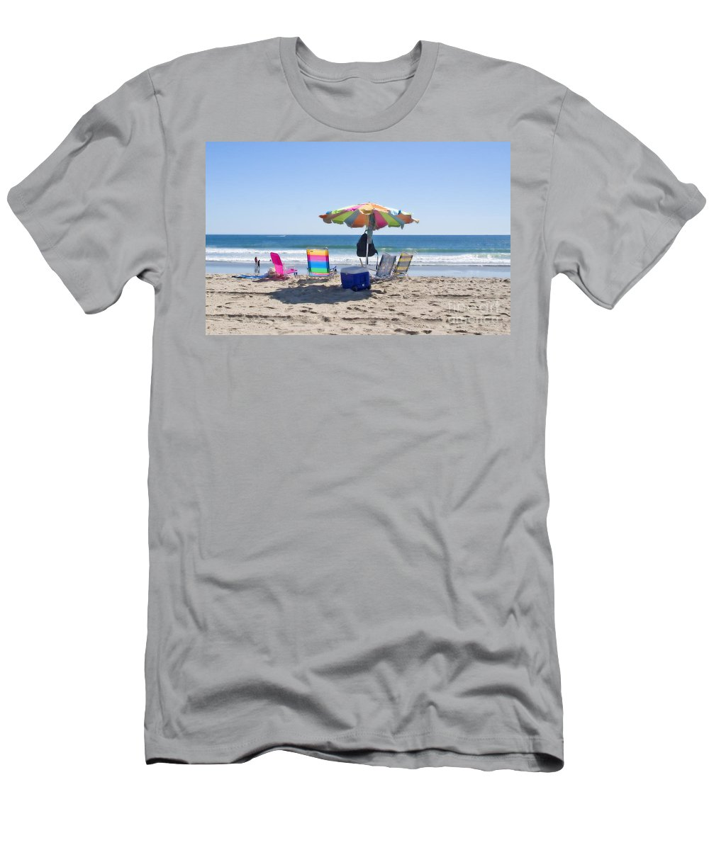 Beach Men's T-Shirt (Athletic Fit) featuring the photograph A Day At The Beach by Madeline Ellis