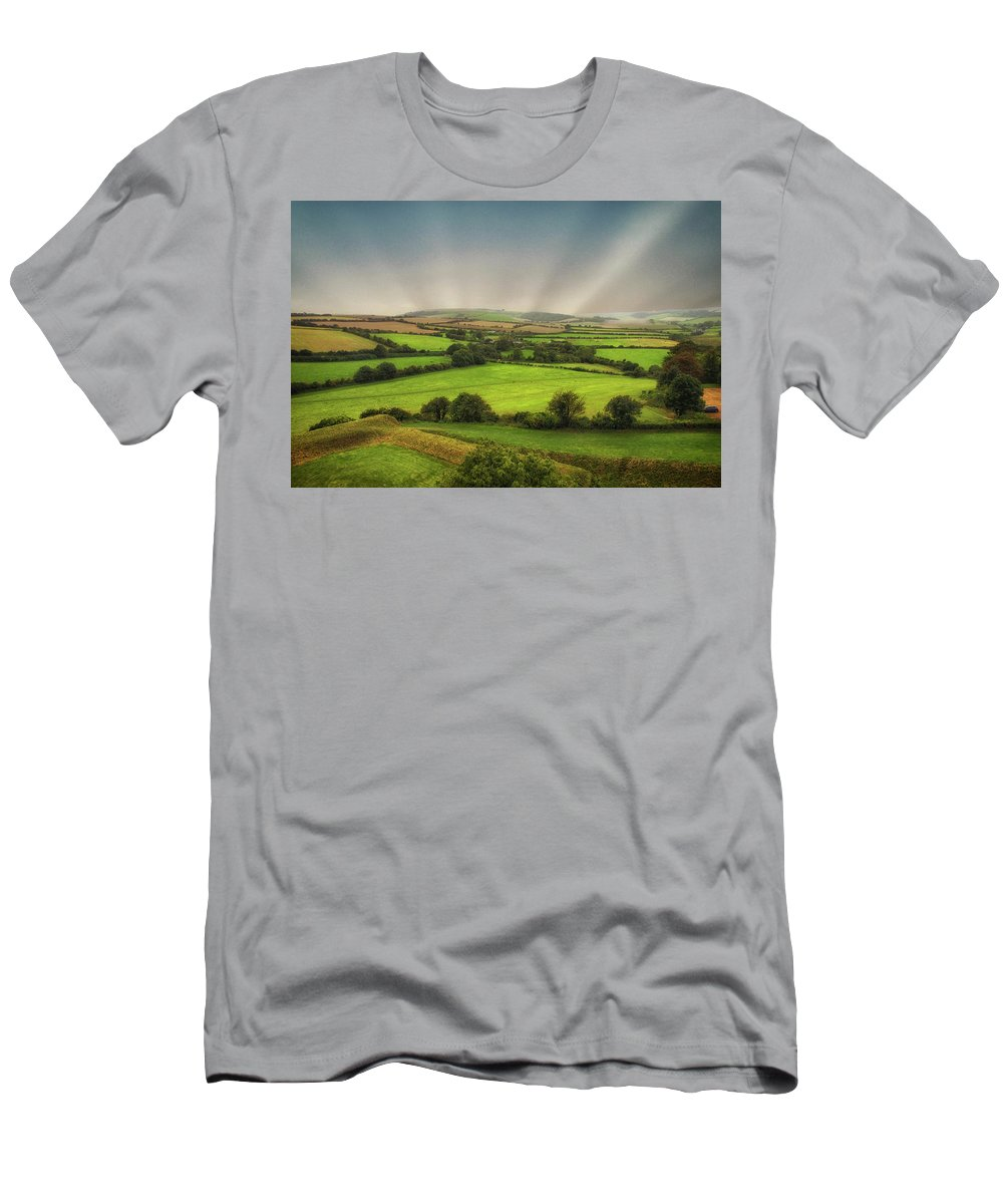 Countryside Men's T-Shirt (Athletic Fit) featuring the photograph English Countryside by Martin Newman