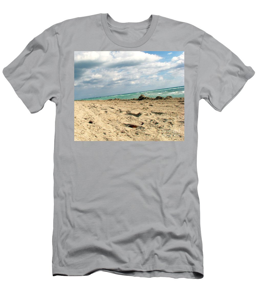 Miami Men's T-Shirt (Athletic Fit) featuring the photograph Miami Beach by Amanda Barcon