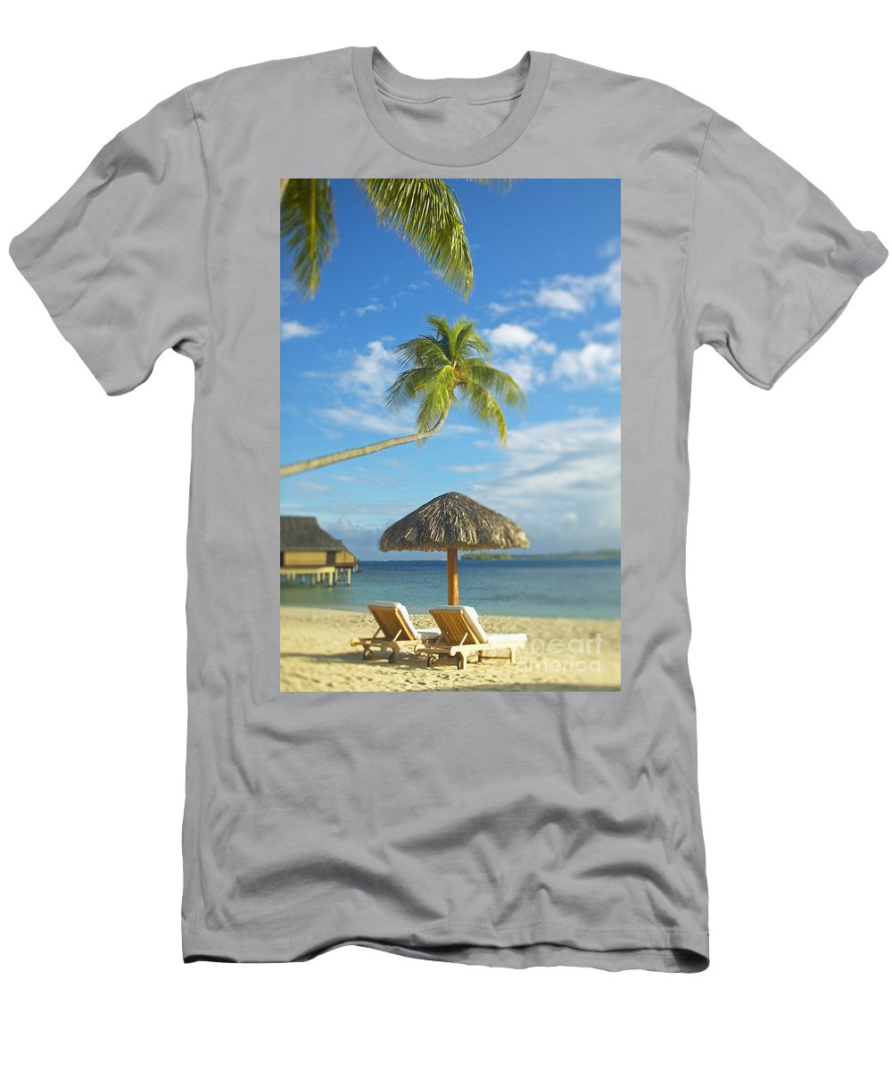 Beach Men's T-Shirt (Athletic Fit) featuring the photograph Tahiti, Bora Bora by Kyle Rothenborg - Printscapes