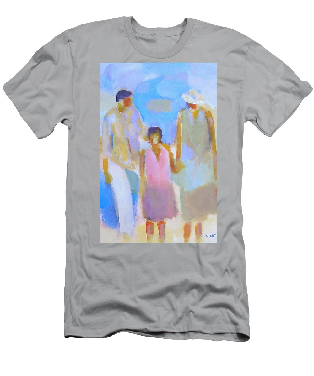 Abstract Men's T-Shirt (Athletic Fit) featuring the painting 3 With Love by Habib Ayat
