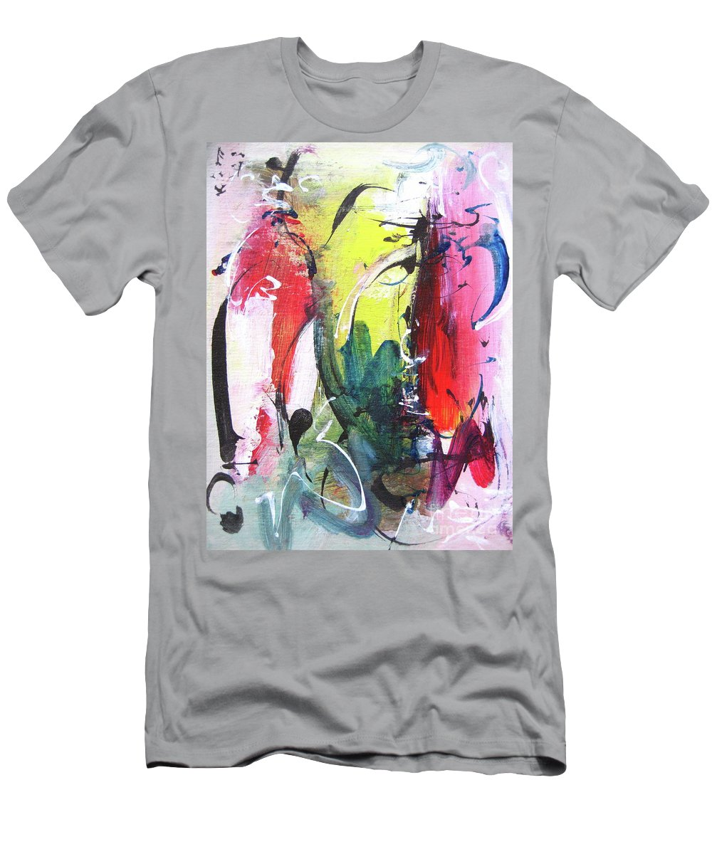 Abstract Landscape Painting Men's T-Shirt (Athletic Fit) featuring the painting Abstract Landscape Painting by Seon-jeong Kim