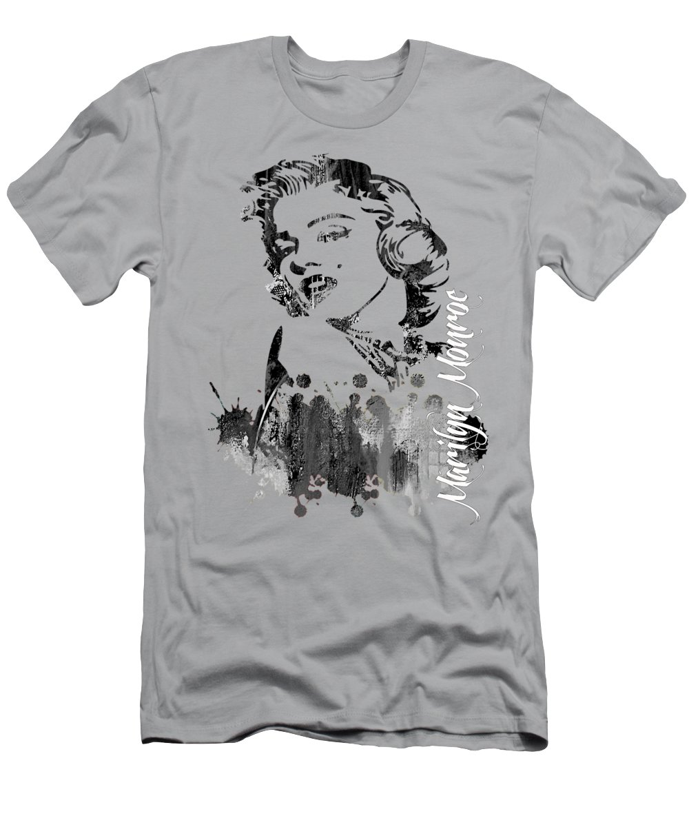 Marilyn Monroe T-Shirt featuring the mixed media Marilyn Monroe Collection by Marvin Blaine