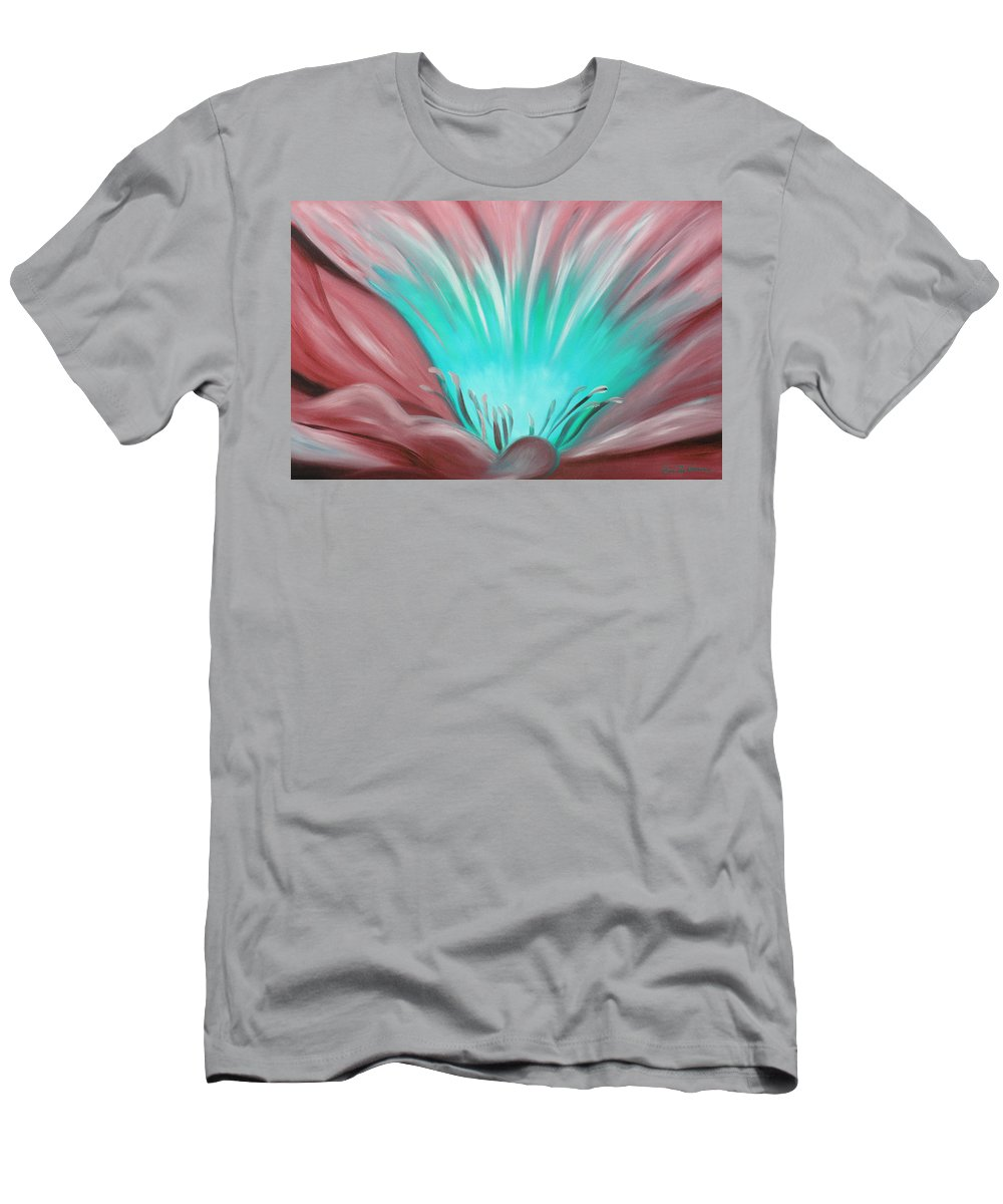 Flowers T-Shirt featuring the painting From the Heart of a Flower by Gina De Gorna