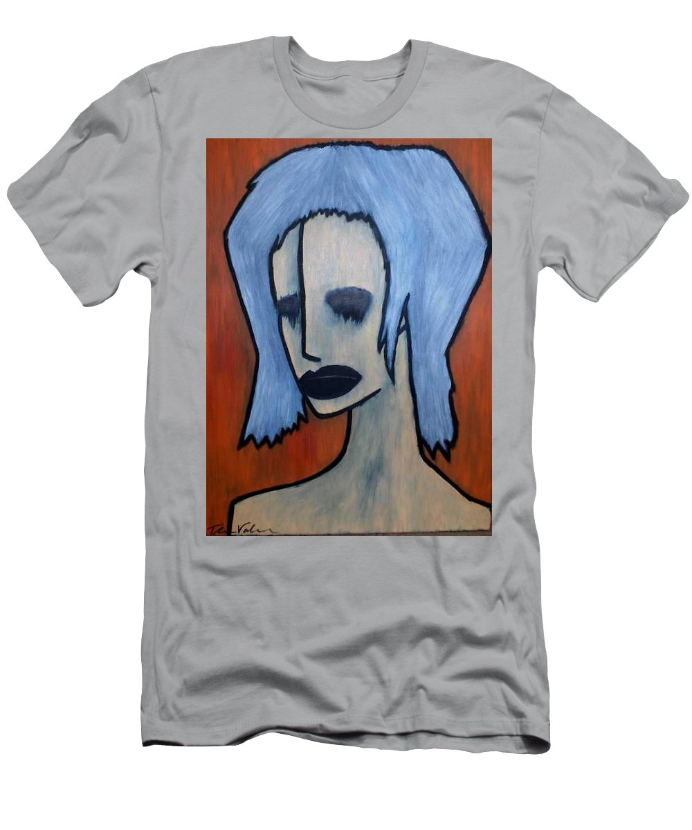 Potrait Men's T-Shirt (Athletic Fit) featuring the painting Halloween by Thomas Valentine