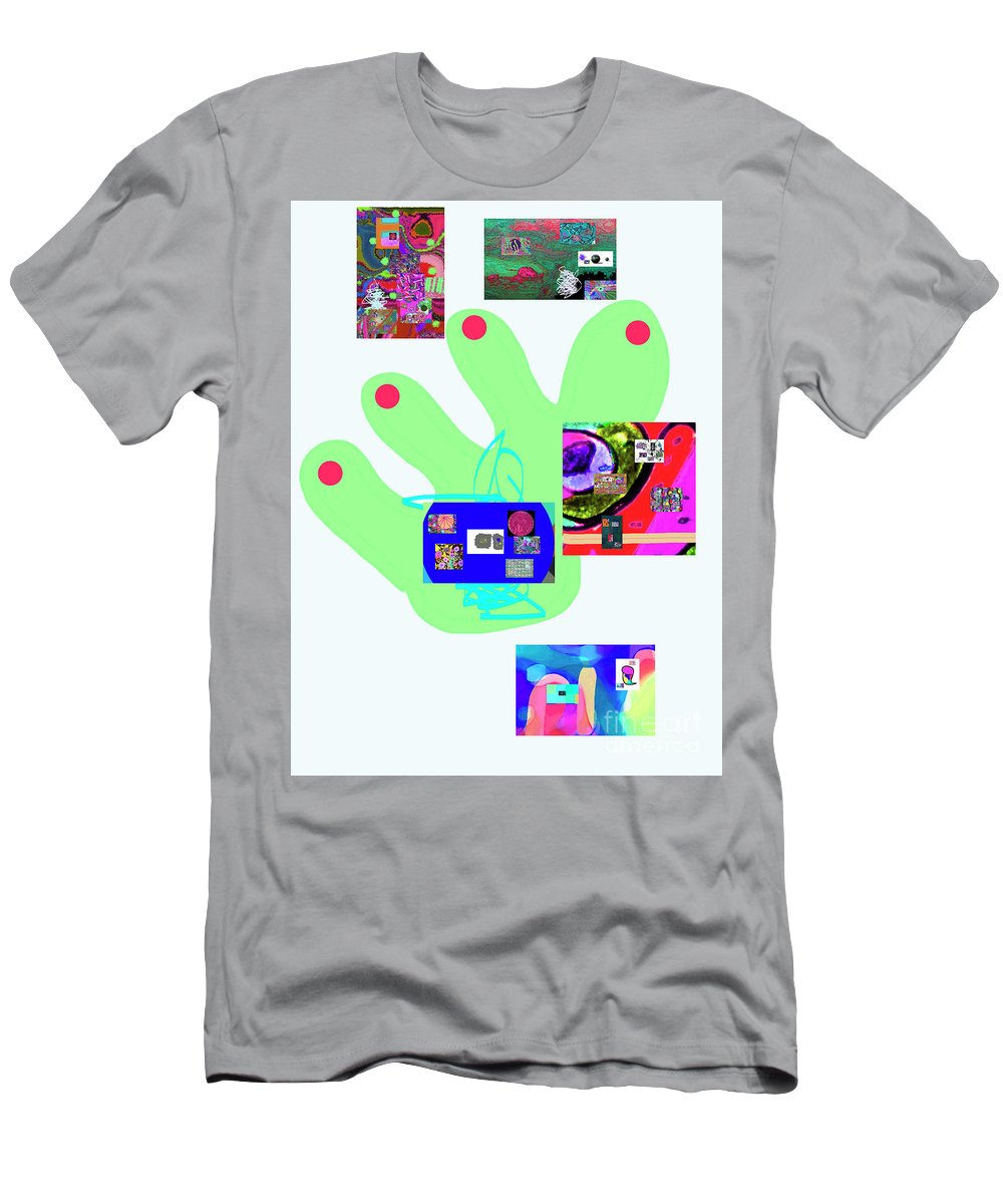 Walter Paul Bebirian Men's T-Shirt (Athletic Fit) featuring the digital art 5-5-2015babcdefghijklmnopqrtuvwxyzabcdefghijk by Walter Paul Bebirian
