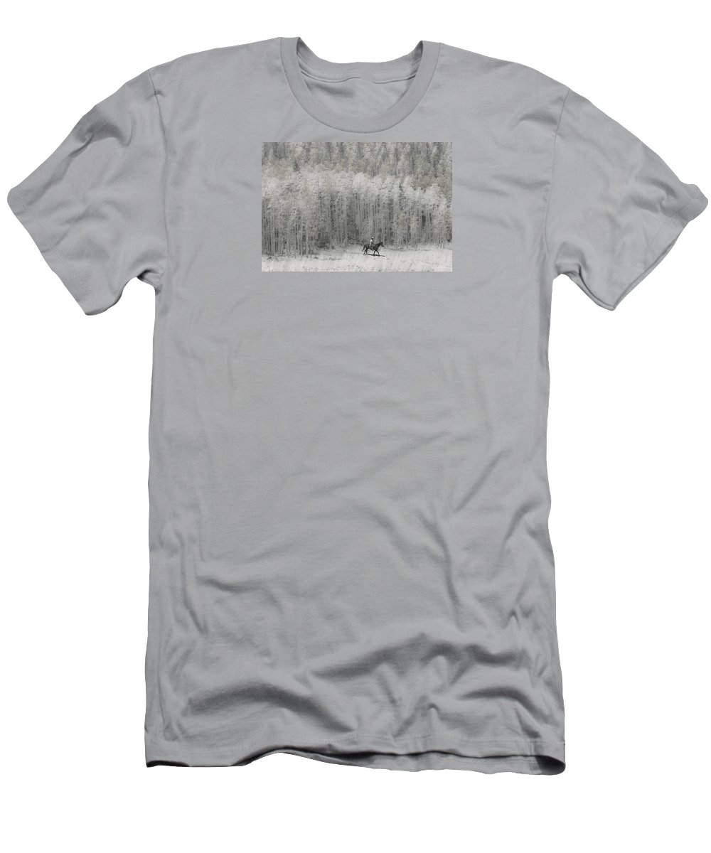 Cowboy Men's T-Shirt (Athletic Fit) featuring the photograph 4147 by Peter Holme III