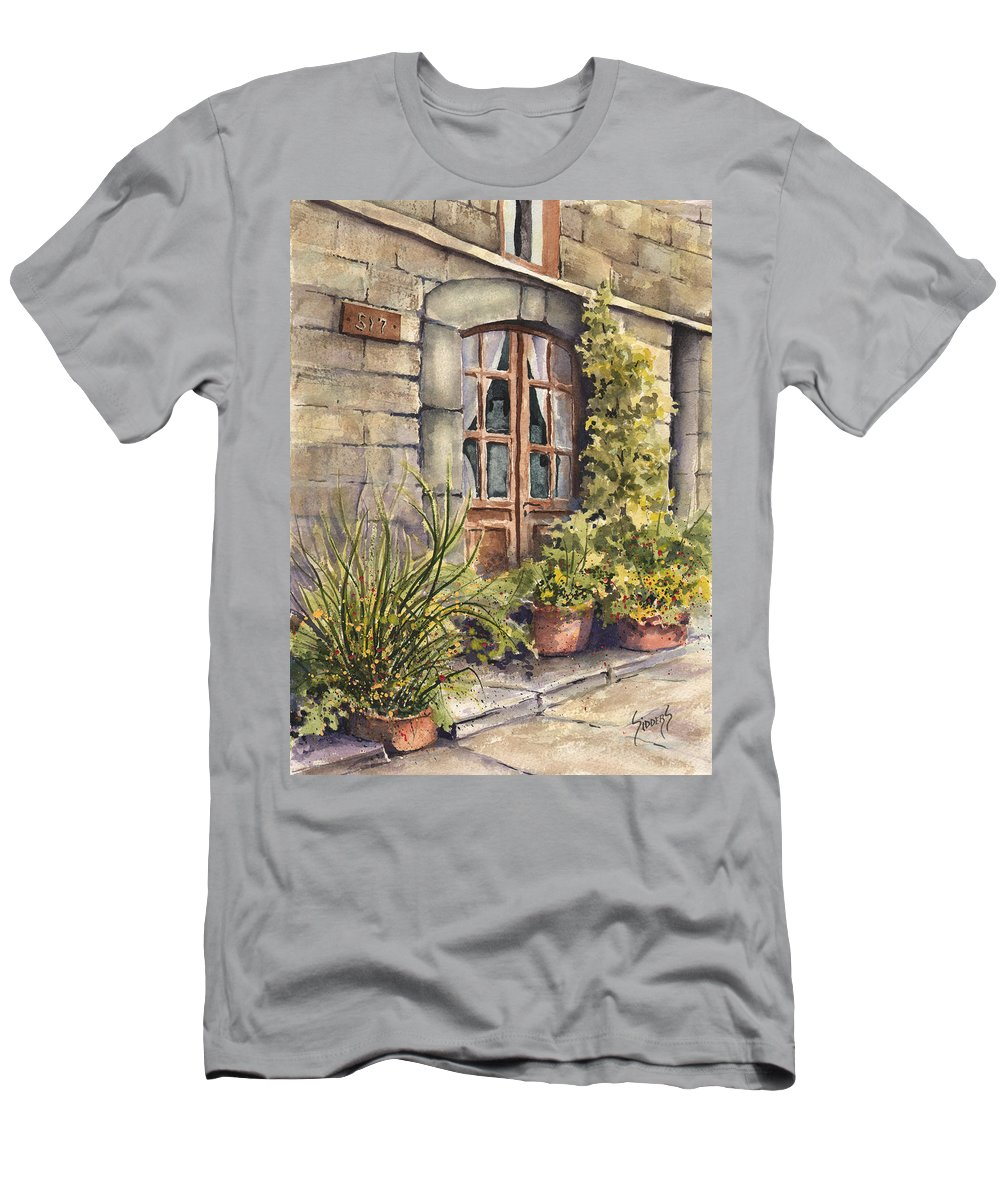 Door T-Shirt featuring the painting 517 by Sam Sidders
