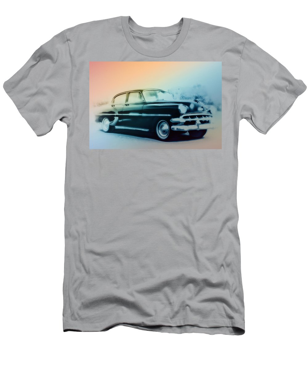 1954 Men's T-Shirt (Athletic Fit) featuring the photograph 54 Chevy by Bill Cannon