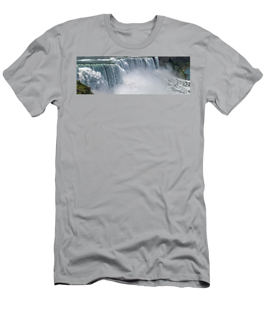 Niagra Falls Men's T-Shirt (Athletic Fit) featuring the photograph Niagara Falls In Summer by Babak Tafreshi