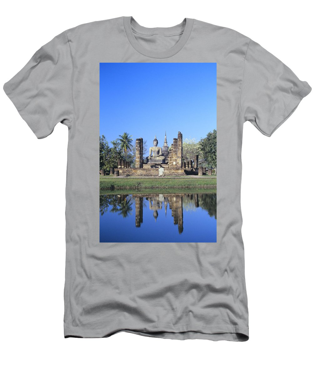 Ancient Men's T-Shirt (Athletic Fit) featuring the photograph Wat Mahathat by Gloria & Richard Maschmeyer - Printscapes