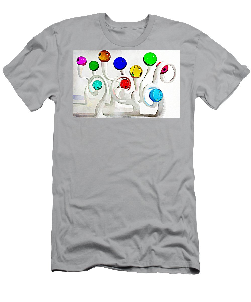 Artistic Men's T-Shirt (Athletic Fit) featuring the digital art Artistic by Lora Battle