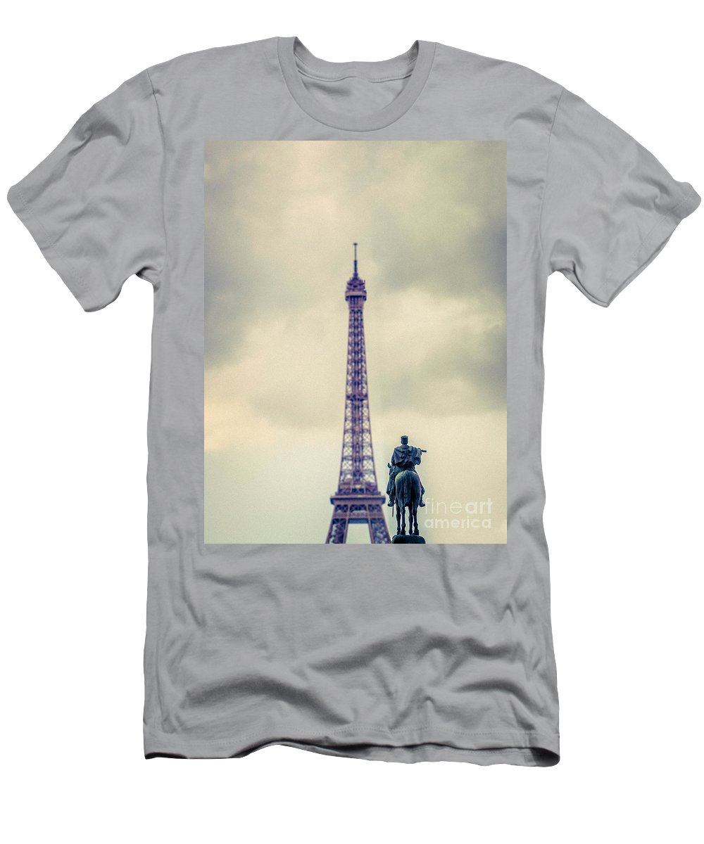 Eiffel Tower Men's T-Shirt (Athletic Fit) featuring the photograph Eiffel Tower, Paris by Bailey Cooper Photography
