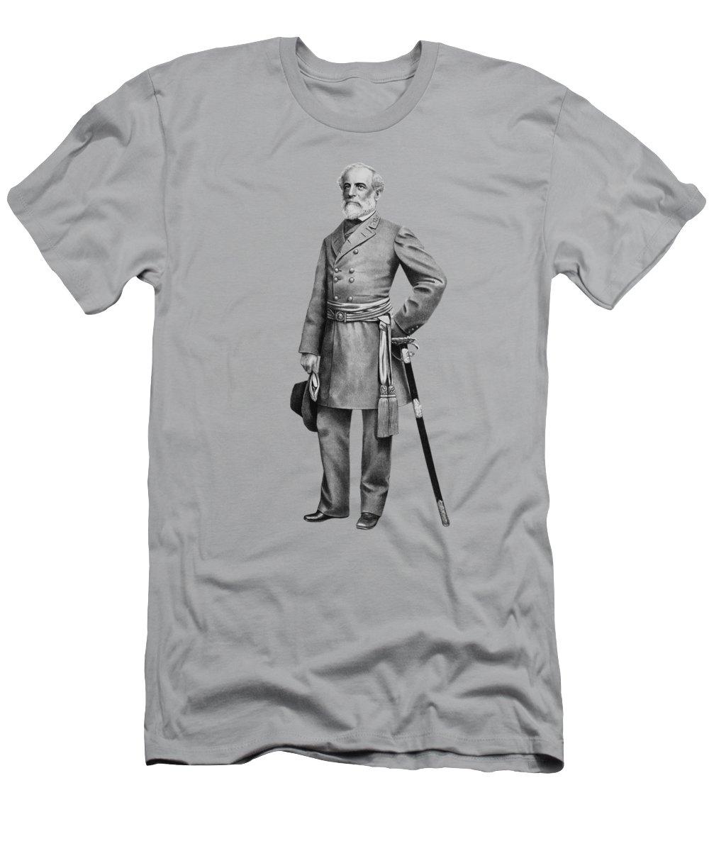Robert E Lee T-Shirt featuring the mixed media General Robert E Lee by War Is Hell Store