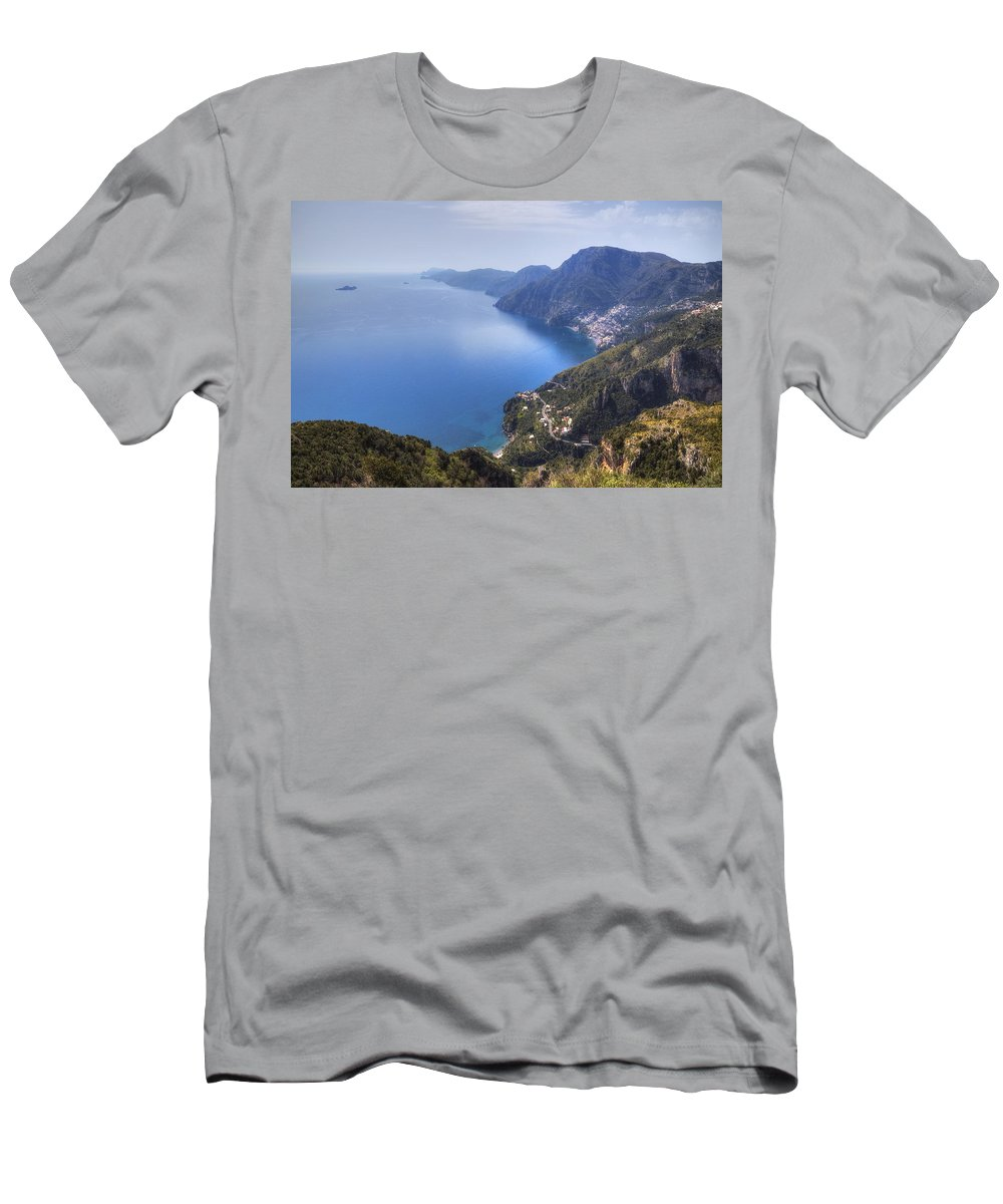 Sentiero Degli Dei Men's T-Shirt (Athletic Fit) featuring the photograph Sentiero Degli Dei - Amalfi Coast by Joana Kruse