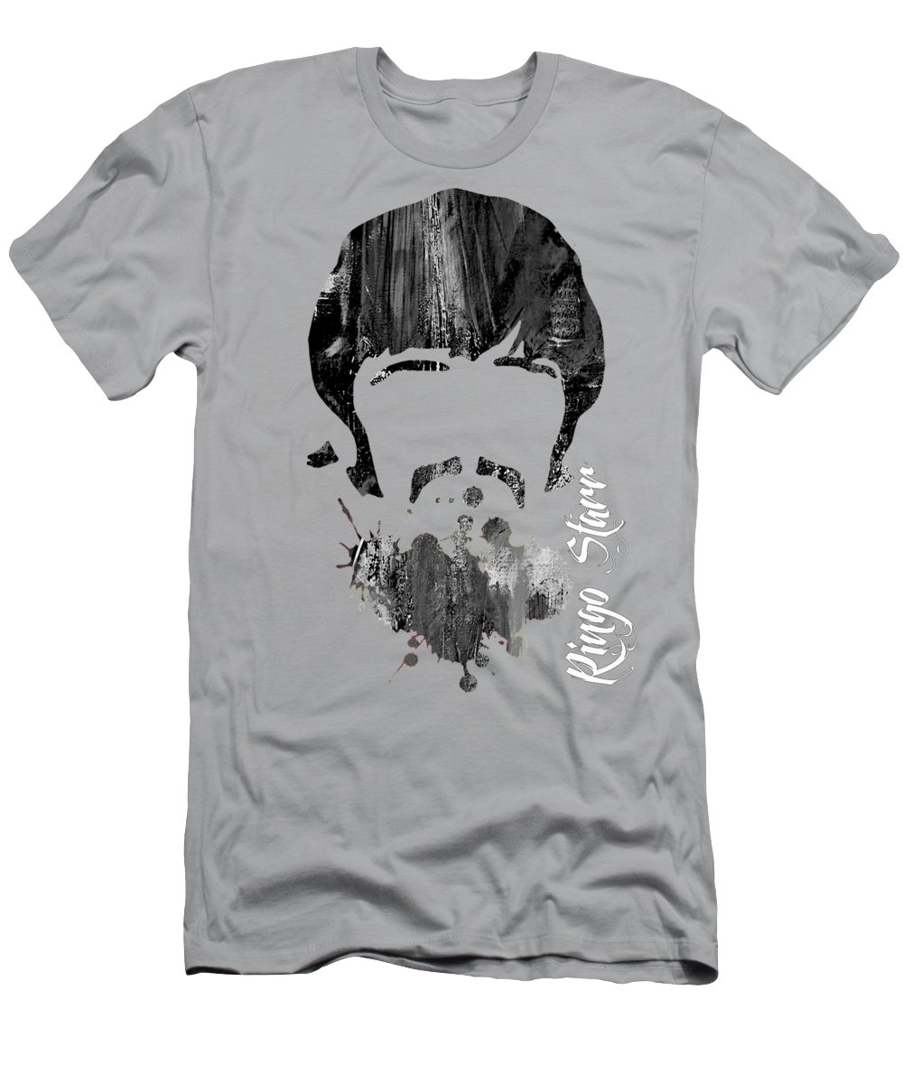 Ringo Starr Men's T-Shirt (Athletic Fit) featuring the mixed media Ringo Starr Collection by Marvin Blaine