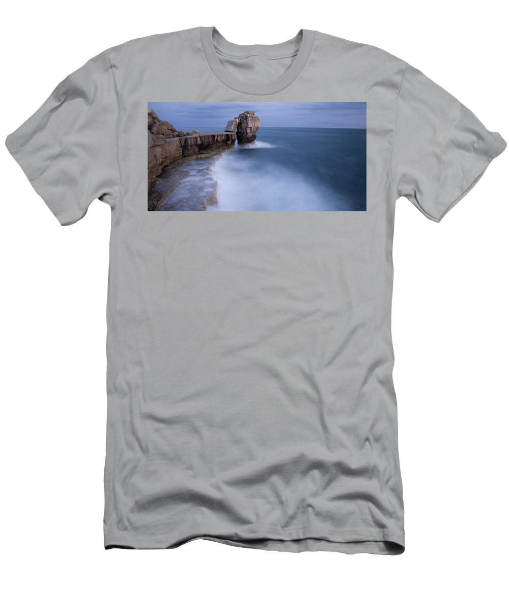Portland Men's T-Shirt (Athletic Fit) featuring the photograph Portland Bill Seascapes by Ian Middleton
