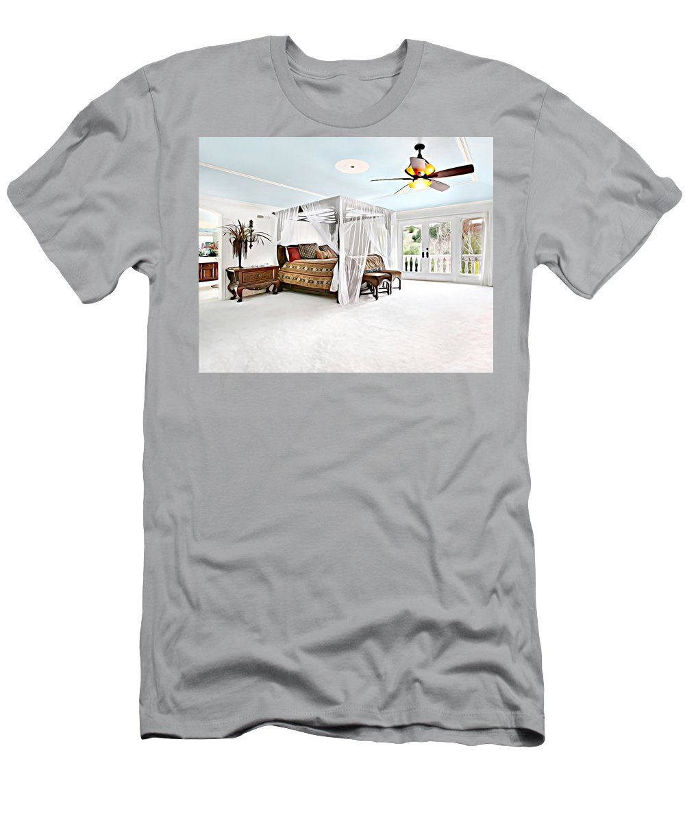 Room Men's T-Shirt (Athletic Fit) featuring the digital art Room by Lora Battle