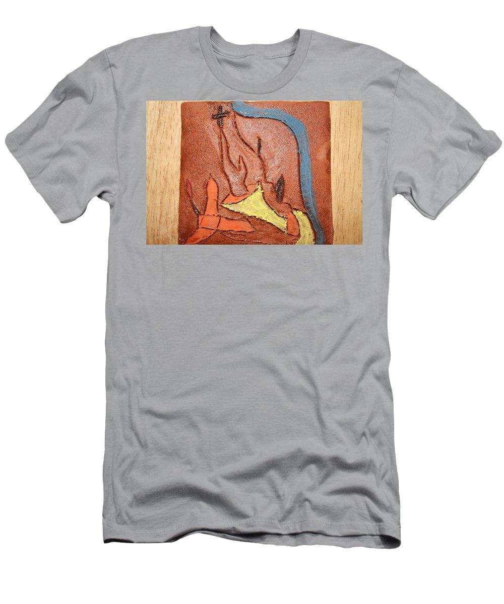 Jesus Men's T-Shirt (Athletic Fit) featuring the ceramic art Sign - Tile by Gloria Ssali